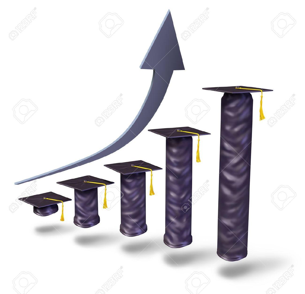 13523382-Aumento-de-la-matr-cula-escolar-con-las-tapas-de-graduaci-n-gradualmente-el-aumento-en-la-altura-com-Foto-de-archivo